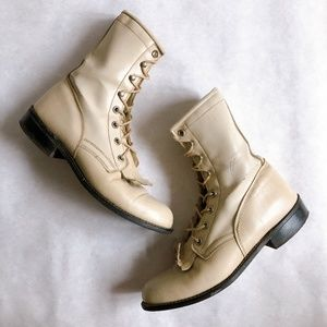Vintage Roy Cooper Packer Lace Up Ankle Boots